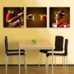 Special Design Frameless Paintings Dessert Print 3PCS