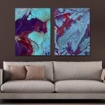MY43-CX – 9-105 Fashion Abstract Print Art Ready to Hang Paintings 2PCS