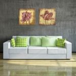 W122 Unique Flower Unframed Art Wall Canvas Prints for Home Decorations 2 PCS