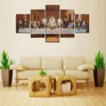 MailingArt FIV609  5 Panels Landscape Wall Art Painting Home Decor Canvas Print