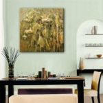 Special Design Frameless Paintings Sunflowers Print