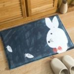 Cartoon Cute Little Rabbit Flannel Bath Mat