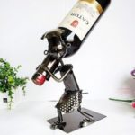 People Collection Wine Rack Moving Iron Ornaments