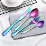 4PCS High Quality Stainless Steel Colorful Dinnerware Set