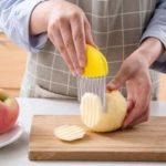 Multifunction Wave-shaped Stainless Steel Slicer   Potatoes Carrots Cutting Tool