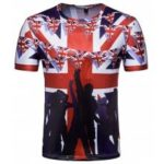 Creative British Flag Men's Short-Sleeved T-Shirts
