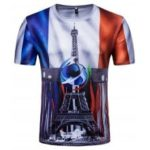 French Men's Short-Sleeved Printed T-Shirts