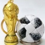 Creative Football Resin Trophy Keychain