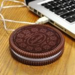 Cookie Shaped USB Heating Warmer Cup Mat  			 			Insulation Coaster