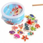 Fishing Game 3 Rod 3D Fish Baby Educational Outdoor Fun