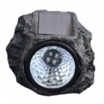 BRELONG Solar Resin Stone Shape  LED Lawn Light