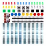 Electronics Component Kit With Resistors  Pin Header  LEDs Switch  Potentiometer