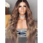 Middle Part Long Colormix Wavy Synthetic Wig