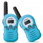 Caroger CR388A License-Free 8 Channel (2packs) Walkie Talkies PMR446MHZ Two Way Radio Up to 3300Meters/3Miles Range Handheld Interphone blue