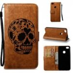 Wkae Skull Embossed Leather Case for Redmi Note 5A Prime