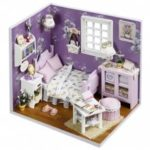 DIY Jigsaw Puzzle Hand-assembled Wood Cottage Dollhouse Toy Set
