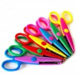 Paper Edge Decorative Safety Scissor DIY Craft Tool Toy Training 6pcs