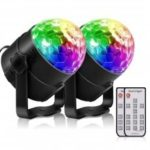YouOKLight YK2278 Sound Disco Remote Control Party Light Disco Ball 2 Pack