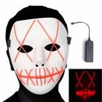 Halloween Glowing Mask Spaventoso Cosplay LED Light up Mask per regali Feste in costume