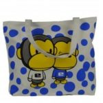 Borsa Preppy in tela modello Cartoon casual a spalla da donna