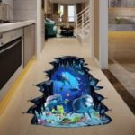 Cartoon Dolphin Removable Waterproof Wall Stickers for Home Decoration