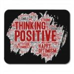 Non Slip Square Rubber Encouraging Words Soft Gaming Mousepad