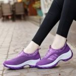 Women Platform Wedges Sneakers Breathable Casual Shoes
