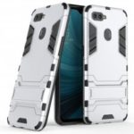 Armor Back Cover with Stand Solid Colored Hard for OPPO A7