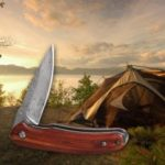 gocomma Damascus Outdoor Folding Knife