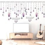 Simple Bead Curtain Window Home Background Wall Decoration Wall Sticker