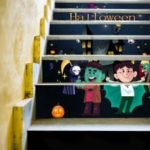 Halloween Simulation Staircase Fashionable Staircase Decorative Wall Sticker