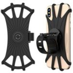 """MP – 8159 360 Degrees Rotatable Adjustable Silicone Bicycle Phone Mount Compatible with iPhone Xs MAX / X 4.5 """"-6.5 inch Phones"""