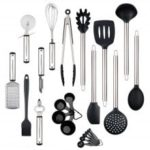 Kitchen Utensil Set Heat Resistant Silicone Heads Cooking Tools 23pcs