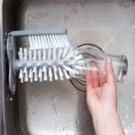 Rotating Wall Mounted Glass Cup Cleaning Brush for Kitchen