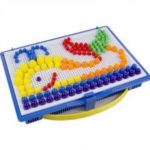 Composite Intellectual Educational Mushroom Nail Kit Toys for Children 296pcs