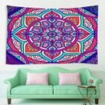 Indoor Wall Decoration Color Flower Pattern Polyester Printing Tapestry
