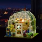 ZHIBO Romantic Flower House DIY Handmade with LED Light