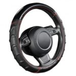 AUTOYOUTH Car Steering Wheel Cover Light Leather Universal Fits Most Car Styling