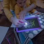 Draw with Light Fun Fluorescent Painting Board Children Magic Writing Plate