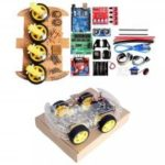 LEBANGSHOU 4WD DIY Smart Chassis Car Kit for Arduino With UNO R3 + Ultrasonic Module + Motor Drive Board /3 – 6V TT Motor