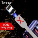 Rexxar Magnetic Nylon Fast Charging Cable Micro USB Type C Rotatable LED Indicator For Samsung LG
