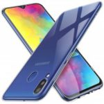QULLOOO TPU Transparent Silicone Flexible Crystal Mobile Phone Case for Samsung Galaxy M20