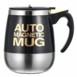 Stainless Steel Magnetic Coffee Mixing Cup Automatic Belly Magnetic Stirring Drinkware