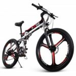 ENGWE Folding Full Suspension Electric Bike with Integrated Wheel Dual Disc