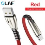 OLAF 3A Type C Micro USB Fast Charge for Samsung Xiaomi Huawei Mobile Phone Cable Charger Data Cord