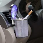 LED Light Car Colorful Ashtray With Automotive Supplies Air Conditioning Outlet Ashtray