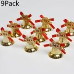 9Pack Christmas Tree Gold Color Small Bell Decorations Creative Christmas New Pendant