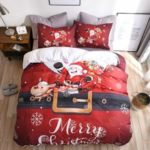 European and American Christmas Happy Santa Claus Gift 3D Digital Bedding Set