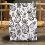 Ink Pineapple Pattern Double-sided Flannel Home Nap Warm Blanket