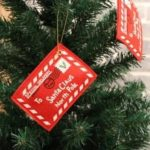 Christmas Tree Decoration Small Pendant Non-woven Decorative Christmas Card Envelopes Creative Blessing Red 5pcs